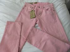 POLO RALPH LAUREN SULLIVAN SLIM 313 DUSTY DISTRESSED PINK JEANS W30XL32 SUMMER