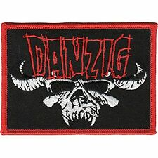 DANZIG - SKULL LOGO - EMBROIDERED PATCH - BRAND NEW - MUSIC BAND 4149
