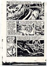 JACK KIRBY CAPTAIN VICTORY #12 ORIGINAL COMIC PROOF PAGE PRODUCTION ART KRACKLE!