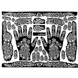 Tattoo Template Hand Feet Henna Stencil For Airbrushing Mehndi Body Art Painting Ebay