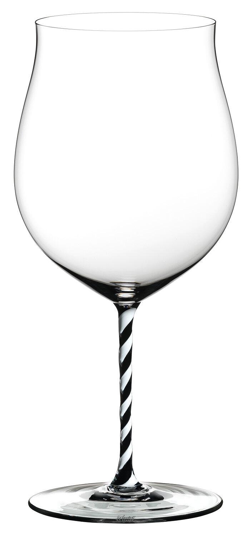 Riedel Fatto Mano Burgundy Grand Cru Verre de Vin Noir Blanc torsadé tige NEUF