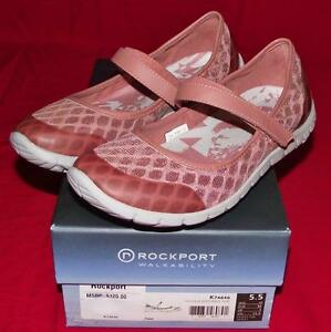 NEW in Box Rockport Womens TruWalkZero Mary Jane Walking Shoes Sneaker 0 5.5M