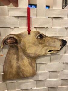 Greyhound Wooden Ornament