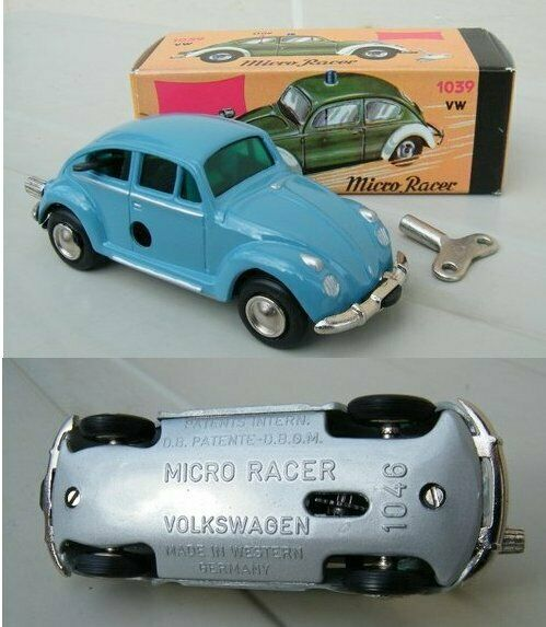 SCHUCO NUTZ MICRO RACER 1046 VW COMMERCIAL COMMERCIAL COMMERCIAL SEDAN TIN TOY MIB ada0a1