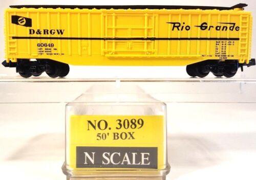 N Model Power 3089 50ft Box Car Rio Grande DRGW #60649