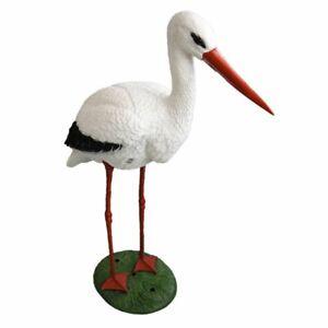 Animali Da Giardino In Plastica.Ubbink 1382501 Decorazione Animale Cicogna Statua Da Giardino In Plastica Ebay