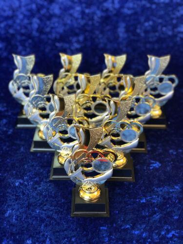 Lot de 10 anneaux olympiques trophées sports day Charity Events Gravure Gratuite