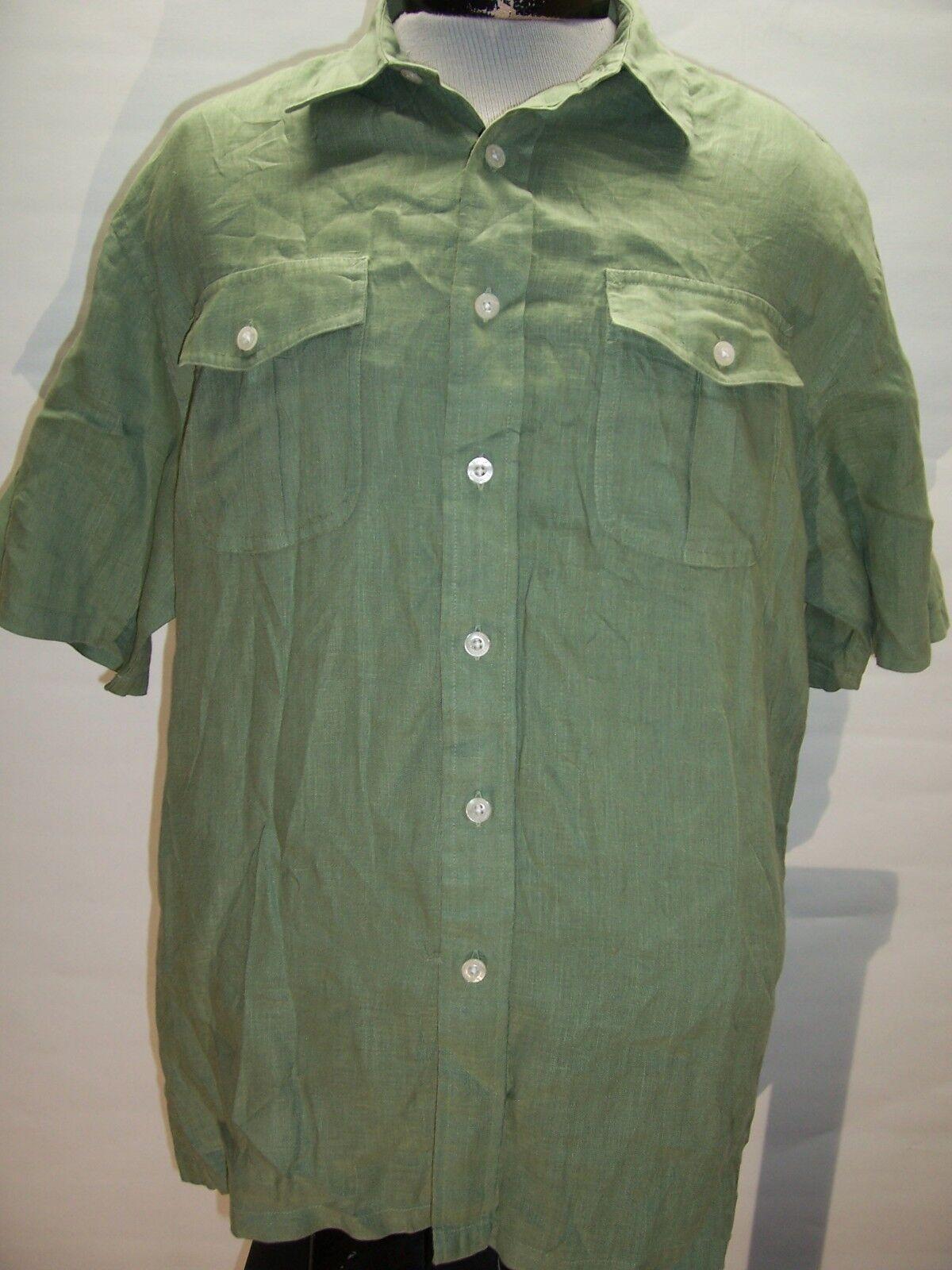 PENDLETON Large L Morrison 100%Linen Button-up shirt Combine ship w Ebay cart
