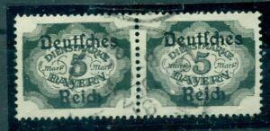 Deutsches-Reich-auf-Bayernmarke-Nr-D-51-gestempelt-Infla-geprueft-BPP