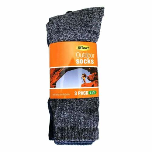 Grisport Outdoor Socks 3 Pairs Large 43-47 Navy /& Blue Soft Cotton Comfort Fit
