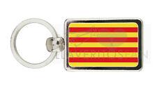 LLAVERO METAL BANDERA CATALUÑA - CATALUNYA FLAG KEYRING PORTE-CLES PORTACHIAVI
