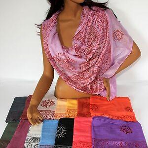 Schal-Benares-Mantra-Tuch-Ram-Nam-Lunghi-180-x-95-cm-Viskose-Indien-Goa-Hippie-L