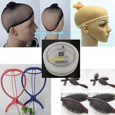 Wig Accessories Optional Wig Stand,Beige Wig Cap, Black Wig Cap Optional Buy