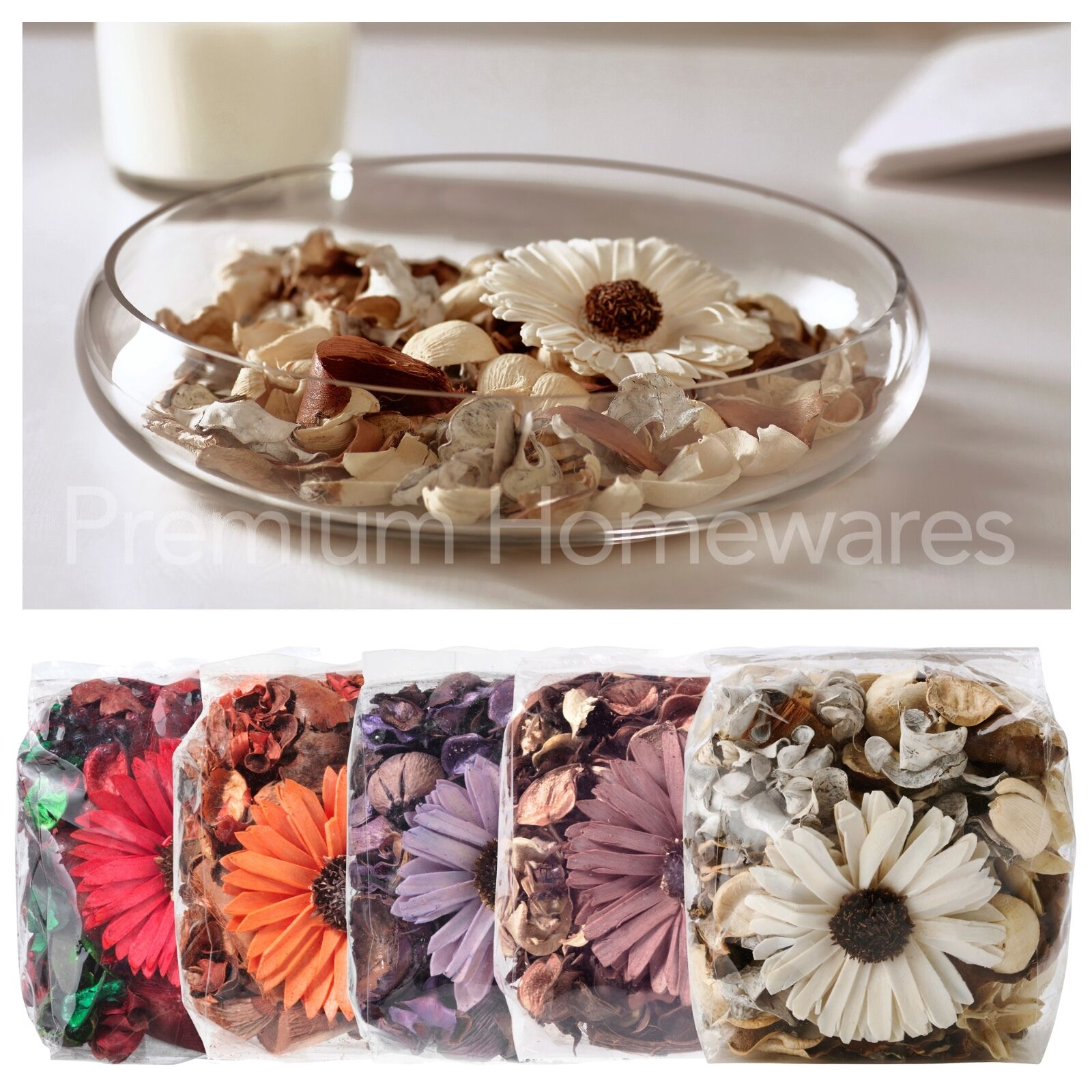 bag of ikea dofta scented potpourri with flower brown orange white lilac red ebay. Black Bedroom Furniture Sets. Home Design Ideas