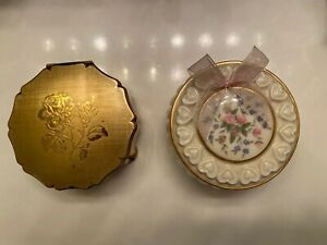 Vintage Gold Tone Trinket Box by Stratton Made in England