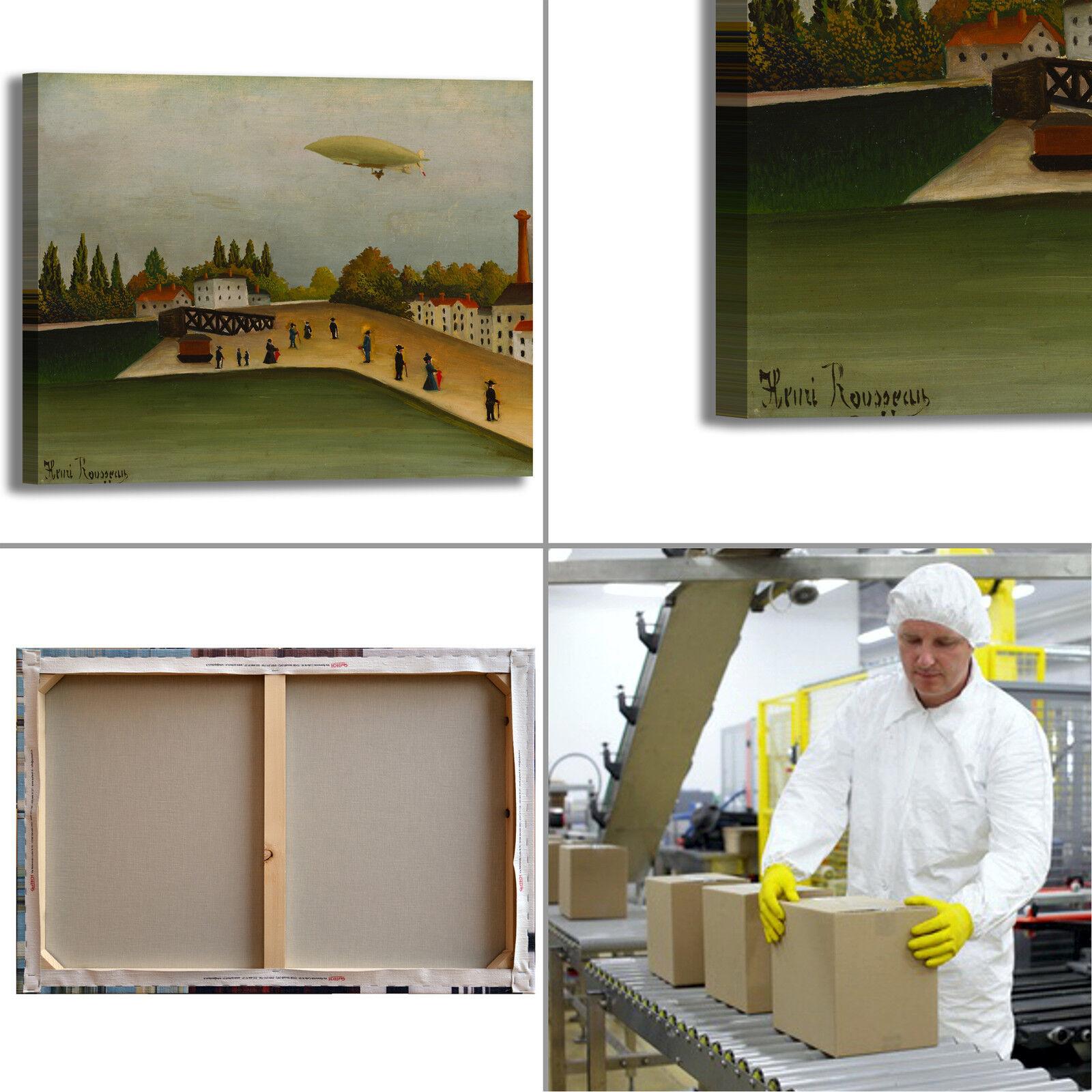Rousseau Quai Ivry design quadro stampa tela dipinto dipinto dipinto telaio arroto casa abb2b9