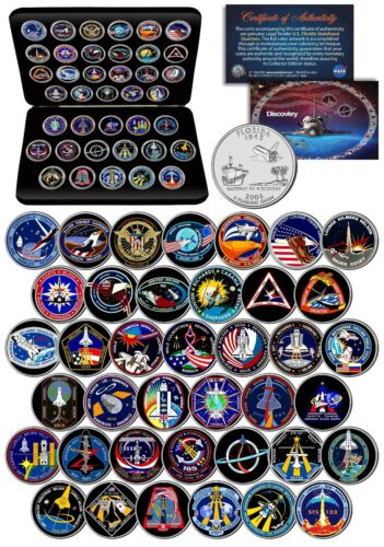 SPACE SHUTTLE DISCOVERY MISSIONS NASA Florida State Quarters 39-Coin Set w// BOX
