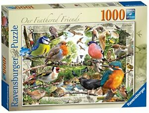 Ravensburger-Jigsaw-Puzzle-OUR-FEATHERED-FRIENDS-Wild-Birds-1000-Piece