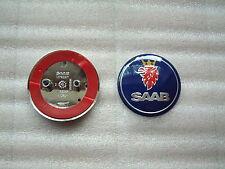 SAAB  BLUE Boot Badge 9-3  & 9-5  68mm/63mm FREE UK P&P