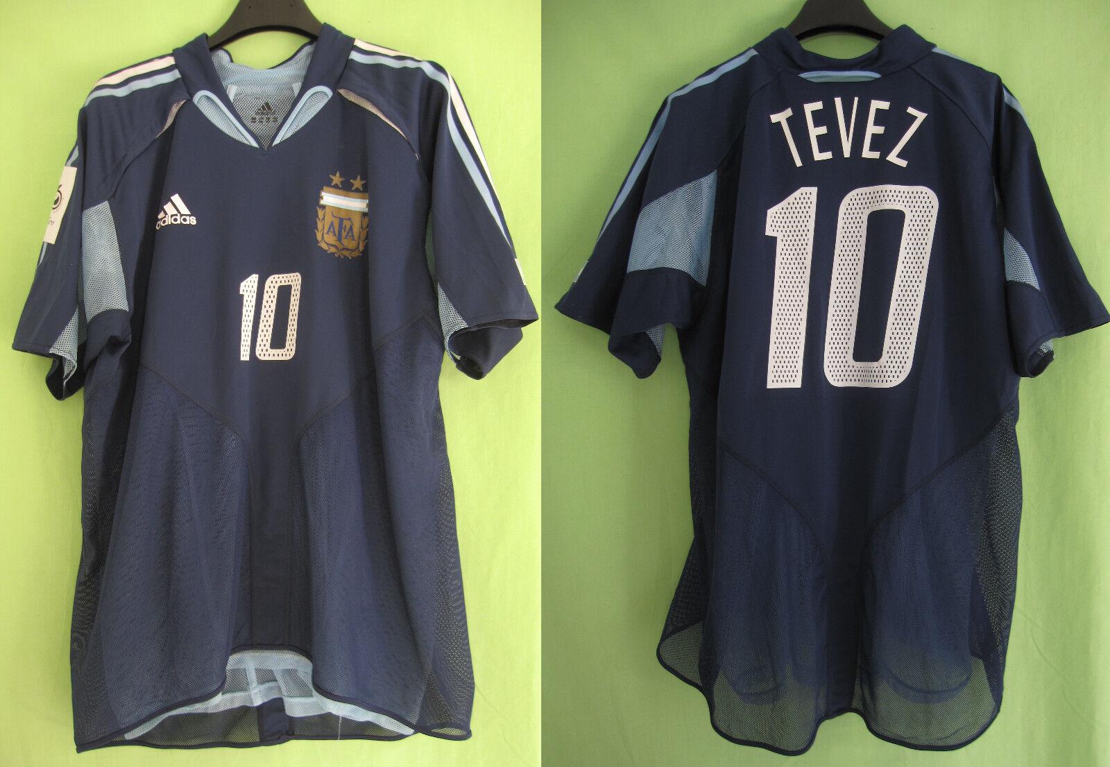 Maillot argentooine Tevez  10 Football Soccer vintage Jersey double couche  XL