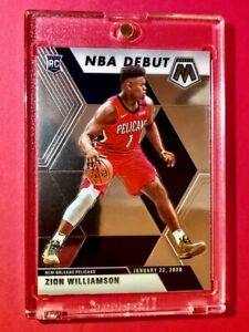 Zion Williamson HOT ROOKIE CARD PANINI MOSAIC NBA DEBUT 2019-20 RC #269 - Mint!