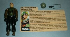 1984 GI Joe Slugger Driver Thunder v1 Figure w/ File Card *Not Complete READ*