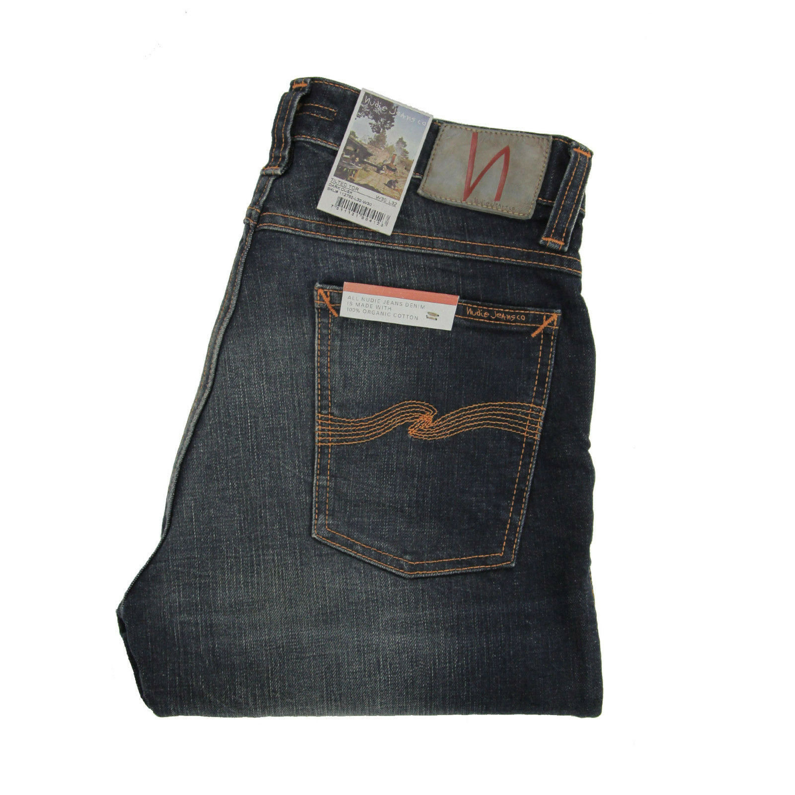 Nudie, Tilted Tor, Jeans, Dark Dusk, bluee Washed, 112752, Slim Fit, New