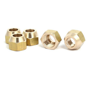 """1/2"""" Brass Forged Flare Nuts Air Conditioner Parts Fittings 10pcs HVAC Plumbing"""