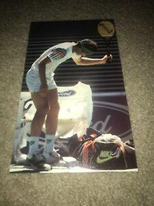 Vintage JOHN MCENROE NIKE CHALLENGE COURT Tennis Shoes Poster Print Ad Photo '90