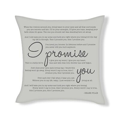 Shane Filan - I Promise You - Song Lyrics Cushion Cover Gift (UFCU065) |  eBay
