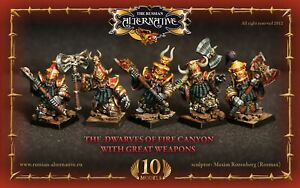 Dwarves of Fire Canyon with Great Weapon Unit RESIN