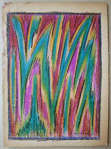 Hermoso-DIBUJO-Original-por-G-MARTINEAU-Pastel-Abstracto-Abstraccion-1959-1