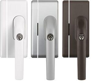 abus fo400n fenstergriff schloss fensterschloss w s b gleichschlie end al0125 ebay. Black Bedroom Furniture Sets. Home Design Ideas
