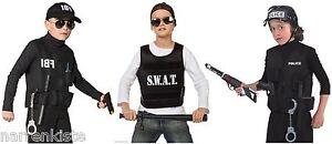 Polizist Polizei SWAT Weste Police FBI CIA Kostüm Uniform Polizeikostüm Cop Helm