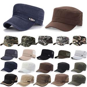 Donna-Uomo-Cubacap-Cappello-Berretto-Esercito-Militare-con-Visiera