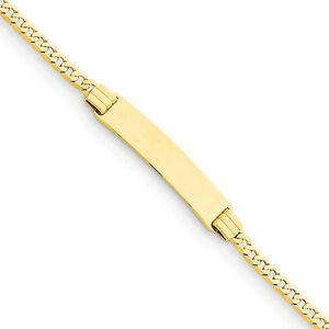 14k-Yellow-Gold-Curb-Link-Child-ID-Polished-Engravable-Bracelet-6-034