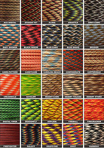 Pattern-Colors-550-Paracord-Mil-Spec-Type-III-7-strand-parachute-cord-10-100-ft