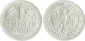 Germany 1 DM Currency Coin 1963 G (2) Prfr St
