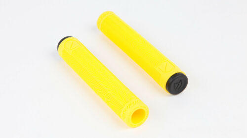 S/&M BMX bike Grips HOODER Yellow Flangeless FIT MTB freestyle SE GT HARO SBC NEW