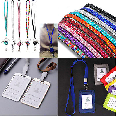 HOT CHARMS RHINESTONE CRYSTAL PHOTO ID CARDS CASE BLING AND ID BADGE HOLDER G