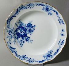 (G1437) Meissen Teller 1860-1924, blaue Blumen mit Posaune, 1.Wahl, D = 25 cm
