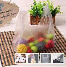 100 Handles Packaging Plastic T Shirt Retail Shopping Supermarket Bags 1523cm