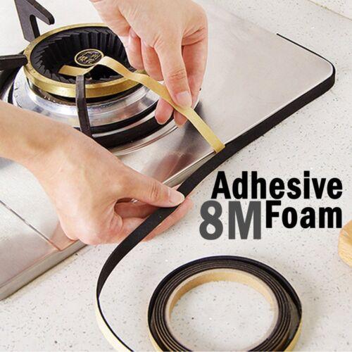 8m Self Adhesive foam tape Weather Waterproof Draught Excluder Door Seal Strip