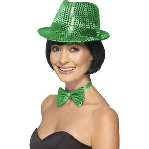 Men/'s Ladies Ireland Sequin Hat /& Bow Tie St Patrick's Day Celebrations Unisex