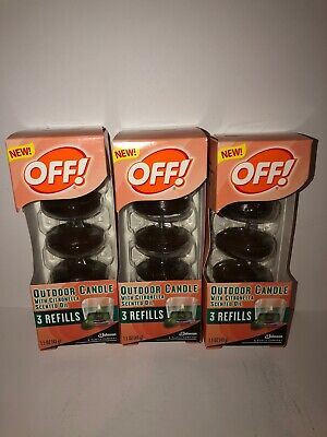 Lot Of 3 Off Outdoor Candle With Citronella Scented 9-Oil ...