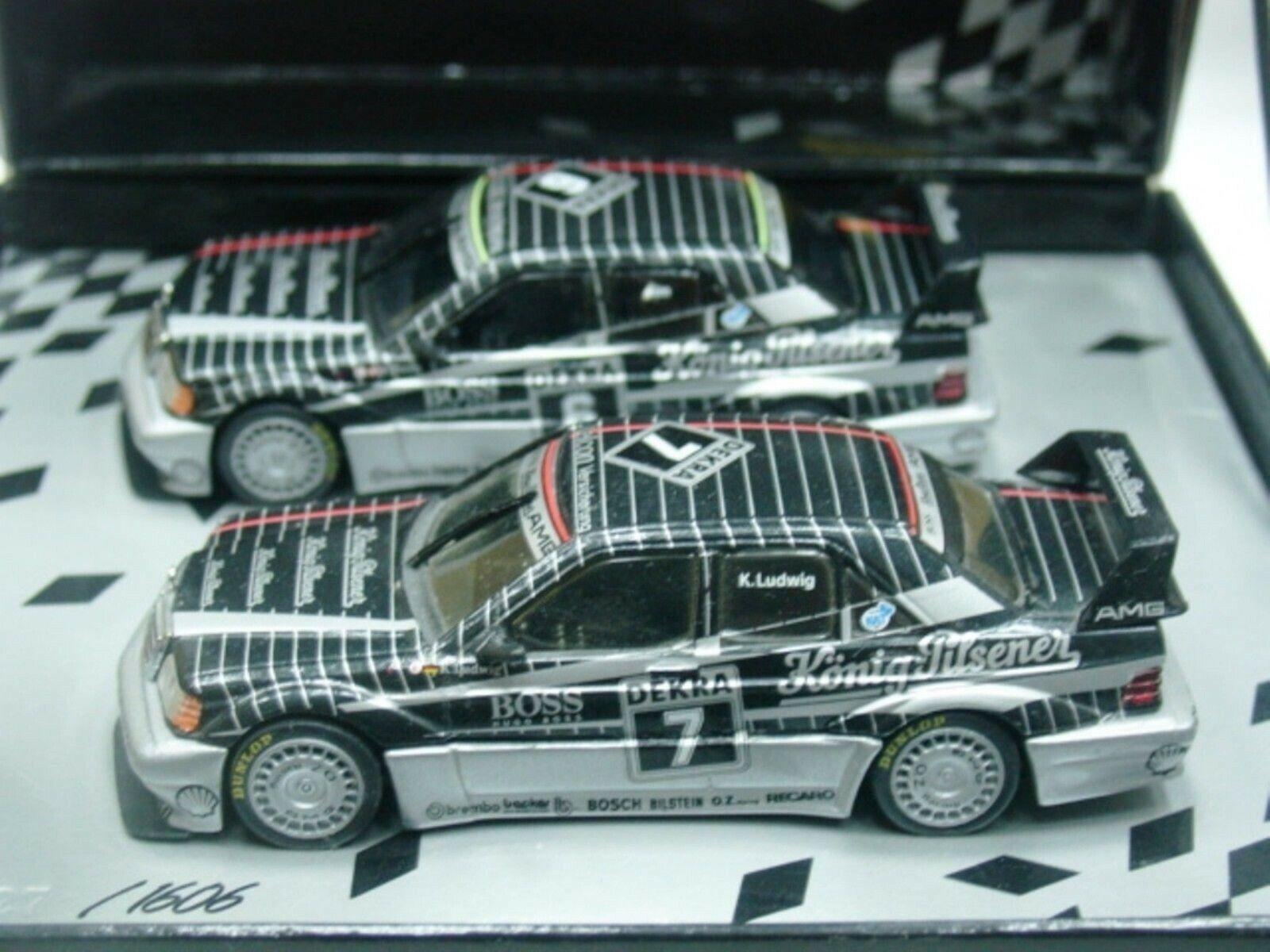 Wow extremadonnate raro Mercedes DTM 1990 190E Evo2 Set Ludwig + Thiim 1 43 Minichamps