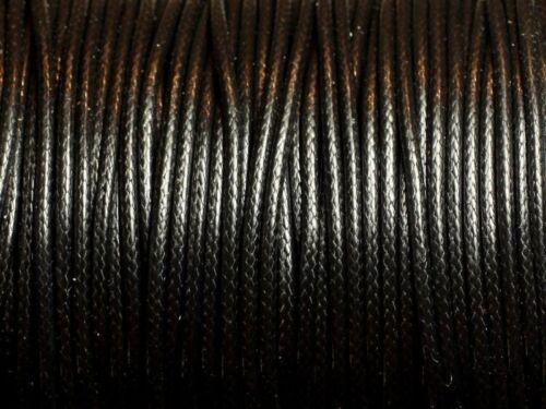Cordon de Coton Ciré 1mm Noir   4558550080530 5 Mètres