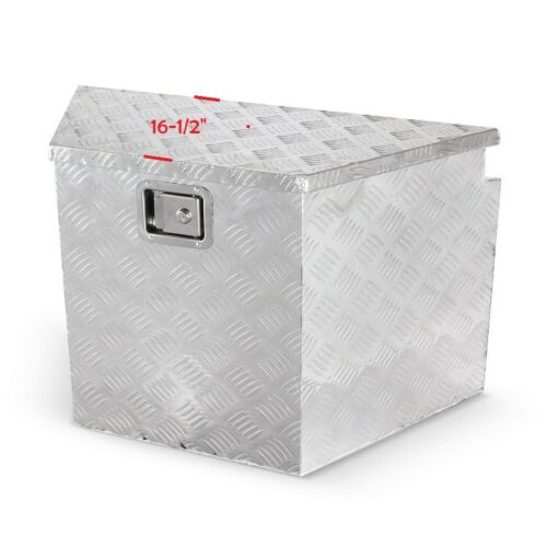 "29/""W X 18/""H X 16/""D Aluminum  Tool Box Truck Tongue Trailer Storage Black"