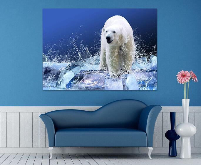3D Starke Eisbär 966 Fototapeten Wandbild  BildTapete Familie AJSTORE DE