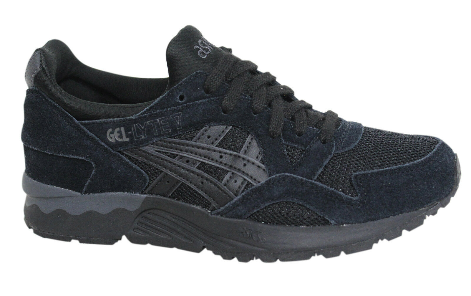 Asics Gel-Lyte V Lace Up Black Leather Mens Trainers H603L 9090 M9
